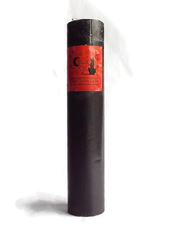 Black Cat Herbal Magic Pillar Crystal Journey Candle